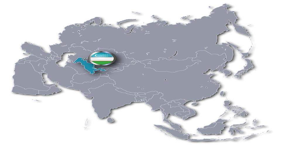 Carte Ouzbékistan dans le Monde