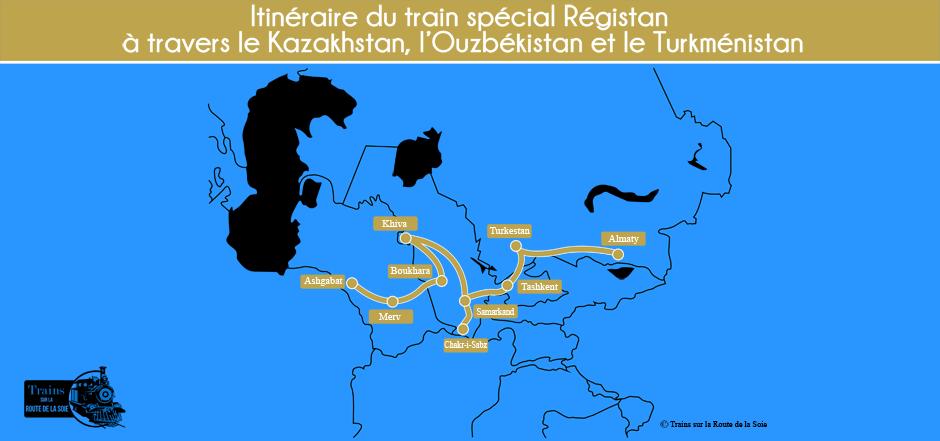 Parcours du train Régistan